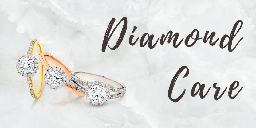 Blog about how to care for diamond jewellery